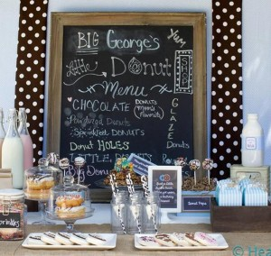 Milk & Doughnuts Party via Kara's Party Ideas #MilkAndDoughnuts #birthday #party #planning #idea #decorations (7)