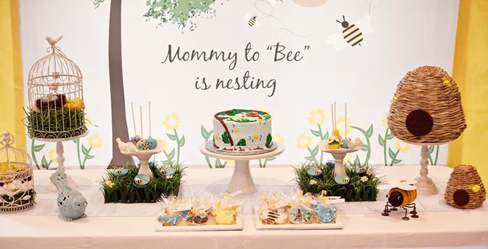 Kara S Party Ideas Birds And Bees Girl Boy Baby Shower Planning