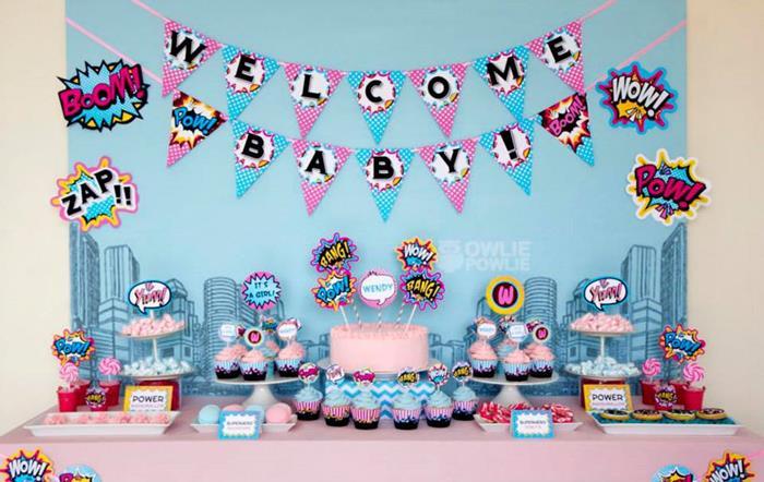 7d151578429 Supergirl   Superboy Baby Shower via Kara s Party Ideas  superhero   supergirl  Party