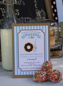 Milk & Doughnuts Party via Kara's Party Ideas #MilkAndDoughnuts #birthday #party #planning #idea #decorations (21)