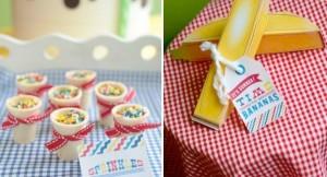 Banana Split Ice Cream Party with tons of ideas! Via Kara's Party Ideas KarasPartyIdeas.com