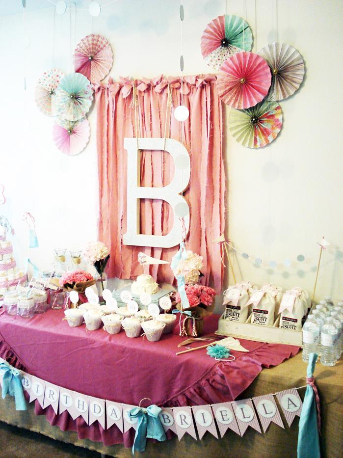 Kara 39 s party ideas vintage chic 1st birthday party via for 1st birthday party decoration ideas