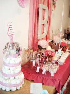 Vintage Chic 1st Birthday Party via Kara's Party Ideas #vintage #Shabby #Chic #FirstBirthday #PartyIdea #Supplies (10)
