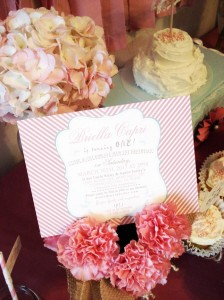 Vintage Chic 1st Birthday Party via Kara's Party Ideas #vintage #Shabby #Chic #FirstBirthday #PartyIdea #Supplies (8)