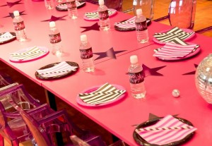 Pink Disco Party via Kara's Party Ideas #disco #PinkParty #planning #idea #decorations (9)