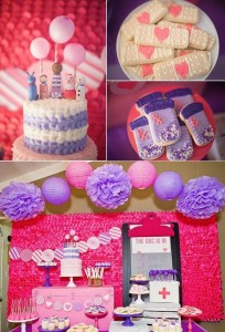 Doc McStuffins Birthday party via Jenny Cookies on www.KarasPartyIdeas.com #docmcstuffins #birthdaypartyideas #karaspartyideas
