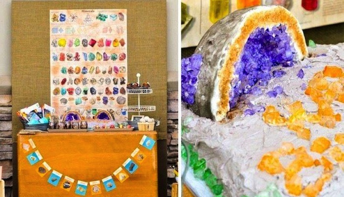 kara s party ideas geologist geology rock themed birthday party