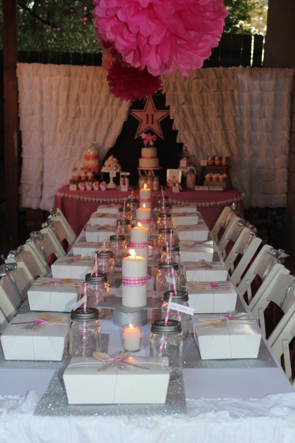 Kara 39 s party ideas under the stars tween teen girl for 13 ka table