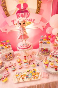 Lalaloopsy Beauty Parlor Party via Kara's Party Ideas #lalaloopsy #spa #makeover #party #planning #idea #decorations (9)