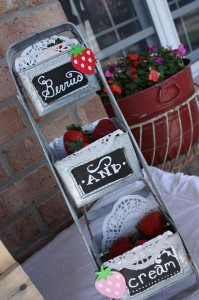 Strawberries & Cream Party via Kara's Party Ideas #Strawberry #IceCream #social #summer #idea #decorations (12)