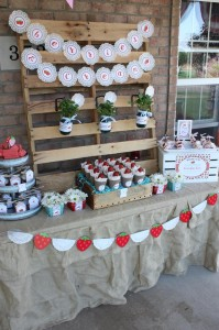 Strawberries & Cream Party via Kara's Party Ideas #Strawberry #IceCream #social #summer #idea #decorations (8)
