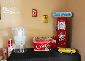1950's Diner Party via Kara's Party Ideas #1950s #diner #FathersDay #retro #party #idea #decorations (32)