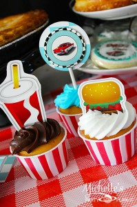 1950's Diner Party via Kara's Party Ideas #1950s #diner #FathersDay #retro #party #idea #decorations (21)