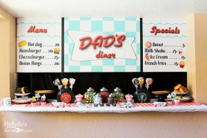 1950's Diner Party via Kara's Party Ideas #1950s #diner #FathersDay #retro #party #idea #decorations (11)