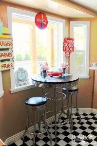1950's Diner Party via Kara's Party Ideas #1950s #diner #FathersDay #retro #party #idea #decorations (10)