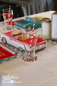 1950's Diner Party via Kara's Party Ideas #1950s #diner #FathersDay #retro #party #idea #decorations (6)