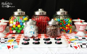 1950's Diner Party via Kara's Party Ideas #1950s #diner #FathersDay #retro #party #idea #decorations (4)