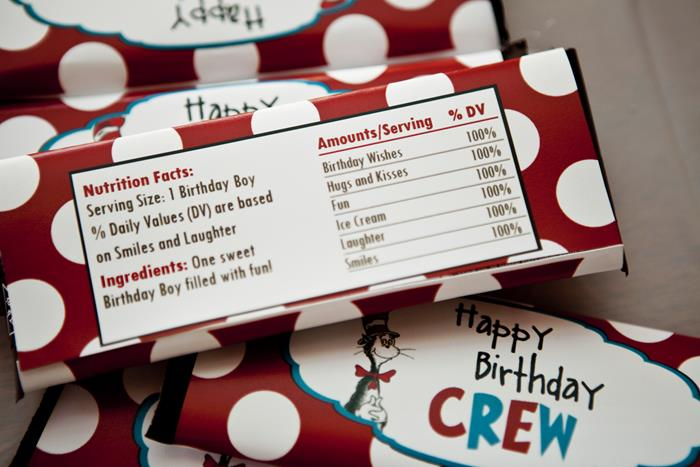 Kara S Party Ideas Dr Seuss Cat In The Hat Birthday Party Planning