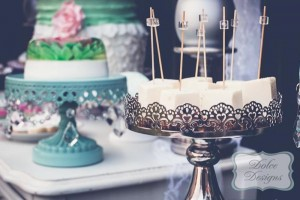 Mint and Pink Dessert Table via Kara's Party Ideas | Kara'sPartyIdeas.com #Wedding #Dessert #Table #Planning #Idea (26)