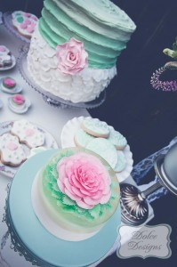 Mint and Pink Dessert Table via Kara's Party Ideas | Kara'sPartyIdeas.com #Wedding #Dessert #Table #Planning #Idea (25)