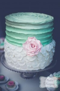Mint and Pink Dessert Table via Kara's Party Ideas | Kara'sPartyIdeas.com #Wedding #Dessert #Table #Planning #Idea (23)