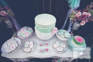 Mint and Pink Dessert Table via Kara's Party Ideas | Kara'sPartyIdeas.com #Wedding #Dessert #Table #Planning #Idea (20)