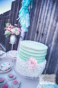 Mint and Pink Dessert Table via Kara's Party Ideas | Kara'sPartyIdeas.com #Wedding #Dessert #Table #Planning #Idea (5)