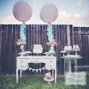 Mint and Pink Dessert Table via Kara's Party Ideas | Kara'sPartyIdeas.com #Wedding #Dessert #Table #Planning #Idea (31)