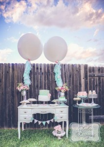Mint and Pink Dessert Table via Kara's Party Ideas | Kara'sPartyIdeas.com #Wedding #Dessert #Table #Planning #Idea (29)