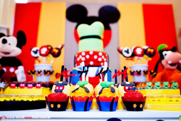 Mickey Mouse Party via Kara's Party Ideas #MinnieMouse #party #planning #idea #decorations #GenderNeutral (19)