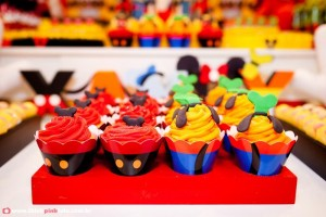 Mickey Mouse Party via Kara's Party Ideas #MinnieMouse #party #planning #idea #decorations #GenderNeutral (26)