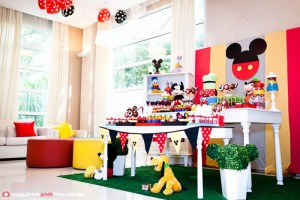 Mickey Mouse Party via Kara's Party Ideas #MinnieMouse #party #planning #idea #decorations #GenderNeutral (2)