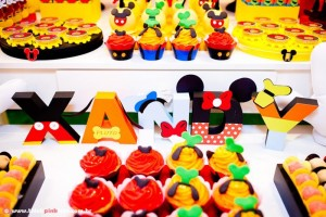 Mickey Mouse Party via Kara's Party Ideas #MinnieMouse #party #planning #idea #decorations #GenderNeutral (21)