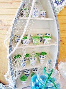 #chevron #BabyShower #Decorations #idea #cake #sailboat (10)