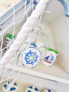 #chevron #BabyShower #Decorations #idea #cake #sailboat (9)