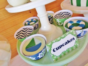 #chevron #BabyShower #Decorations #idea #cake #sailboat (5)