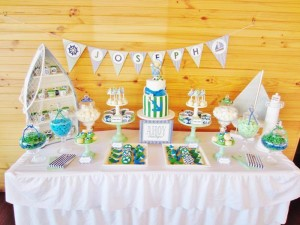 #chevron #BabyShower #Decorations #idea #cake #sailboat (4)