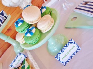 #chevron #BabyShower #Decorations #idea #cake #sailboat (2)