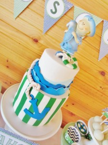 #chevron #BabyShower #Decorations #idea #cake #sailboat (1)