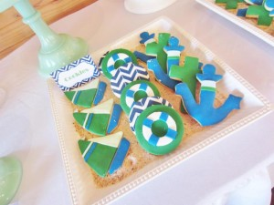 #chevron #BabyShower #Decorations #idea #cake #sailboat (15)
