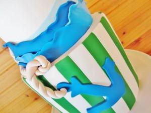#chevron #BabyShower #Decorations #idea #cake #sailboat (11)