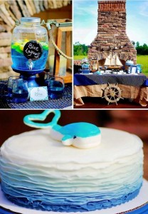 Nautical themed birthday party for Pottery Barn by Capes & Crowns via Kara's Party Ideas KarasPartyIdeas.com #nautical #themed #birthday #party #ideas