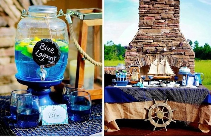Themed Cocktail Party Ideas Part - 21: Karau0027s Party Ideas Nautical Themed Birthday Party For Pottery Barn, Cake,  Decorations, Supplies