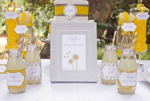 Dandelion Baby Shower via Kara's Party Ideas #dandelion #BabyShower #PartyPlanning #idea #PartyDecorations (11)