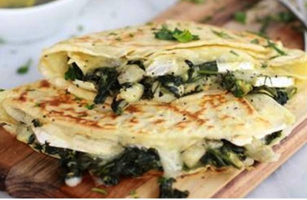 Spinach and Artichoke Quesadilla Wraps Recipe on www.KarasPartyIdeas.com #spinachartichoke #recipe