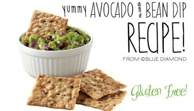 Yummy avocado & bean dip recipe (GLUTEN FREE) via Kara's Party Ideas KarasPartyIdeas.com - THE place for all things party!  2