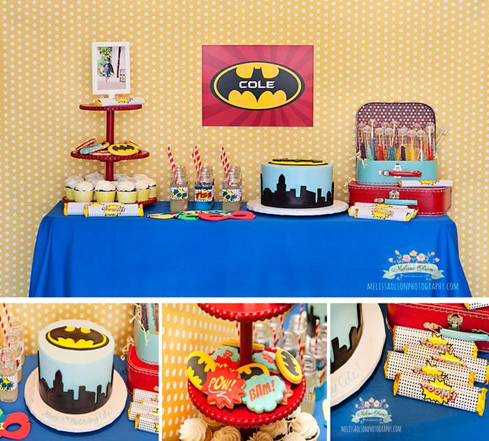 Batman Party Via Karas Ideas Planning Idea Decorations Boy