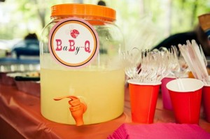 BBQ Themed Girl Baby Shower via Kara's Party Ideas #party #planning #idea #decorations (1)
