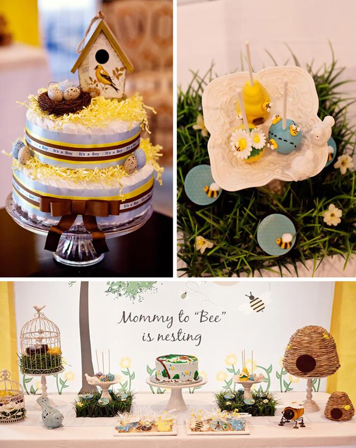 Birds And Bees Baby Shower Via KarasPartyIdeas BirdsAndBees AboutToHatch BabyShower
