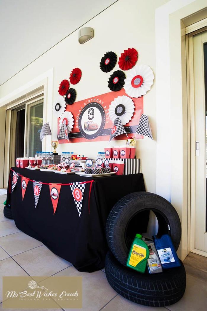 Cars Centerpiece Ideas : Kara s party ideas disney cars via